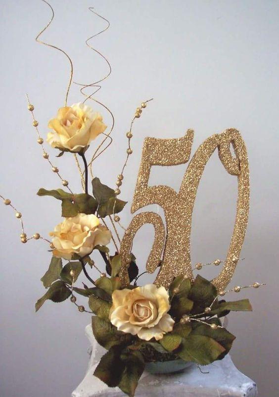 adorno por el 50 aniversario de casados