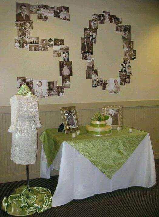 decoración sencilla para bodas de oro