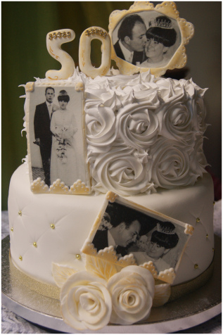 pastel para bodas de oro