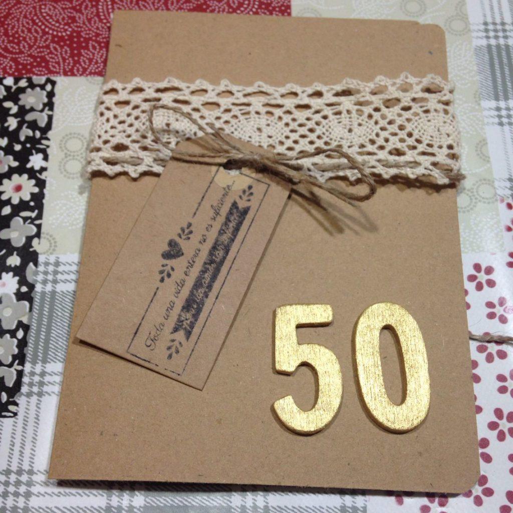 tarjeta de invitación sencilla para boda de oro
