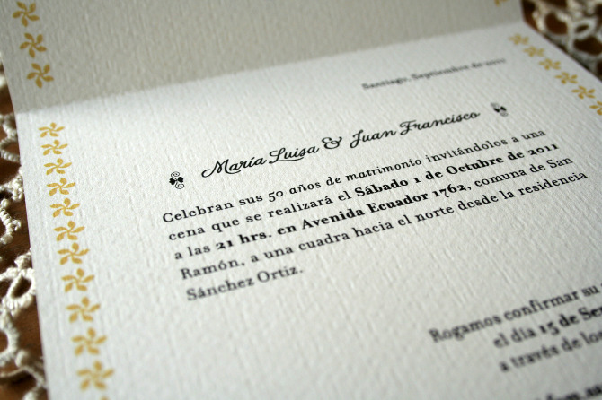 Invitaciones Bodas De Oro Haz La Mejor Boda De Oro