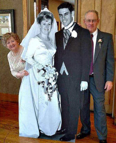 photocall original para bodas de oro