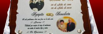 Placas conmemorativas bodas de oro