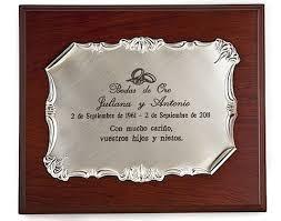 texto sencillo para placas conmemorativas de bodas de oro