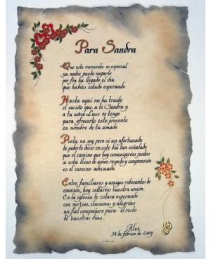 poemas en forma de pergamino para bodas de oro