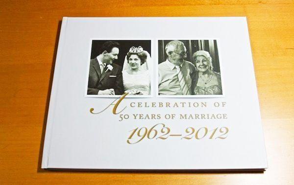 álbum fotográfico sorpresa boda de oro regalo