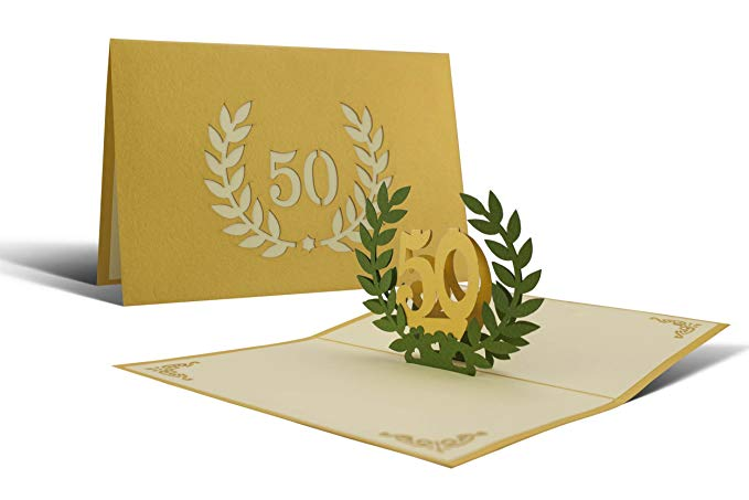 comprar tarjetas bodas de oro