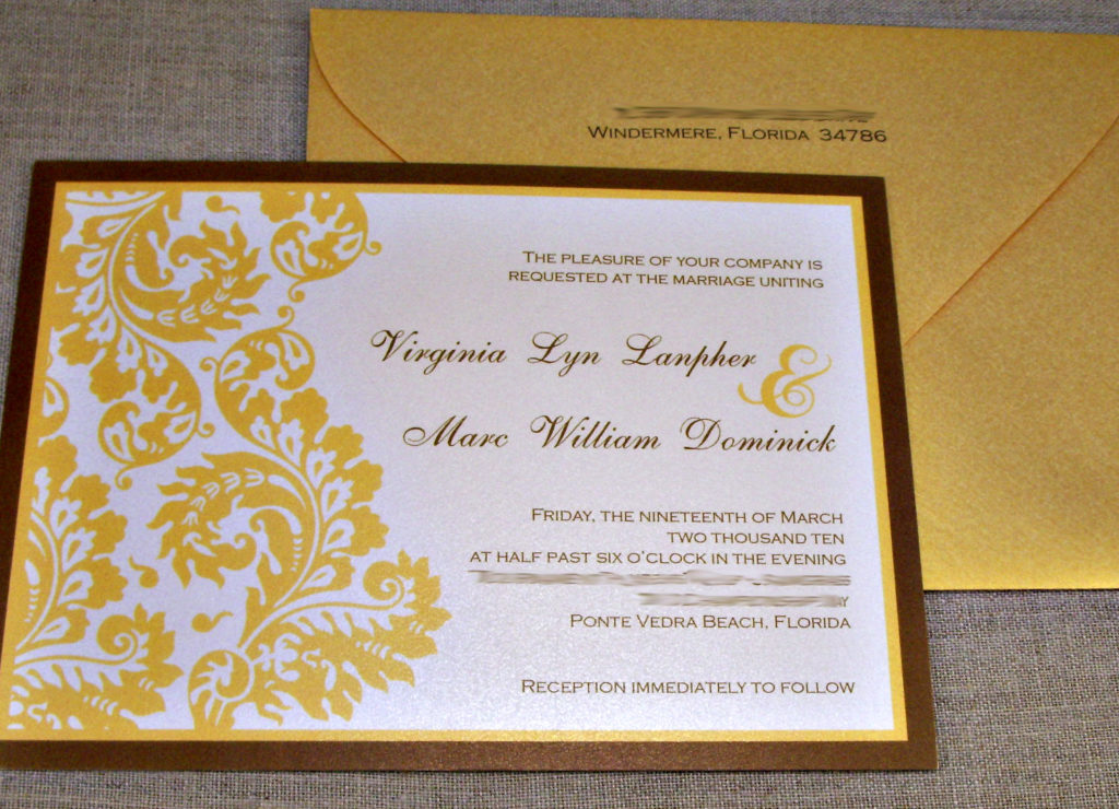tarjeta de invitación para bodas de oro