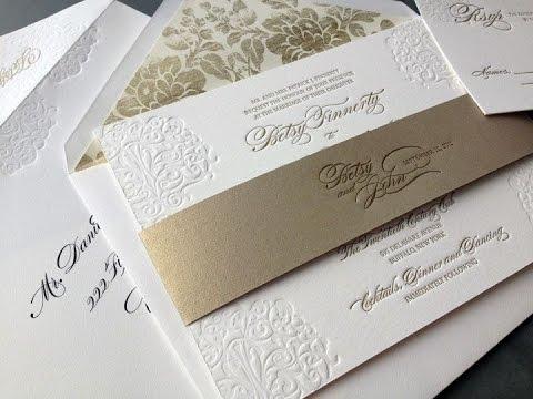 elegantes tarjetas para bodas de oro