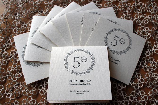 tarjetas de invitación para 50 aniversario de bodas